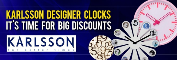 Karlsson Wall Clocks - It's Time For Big Discounts