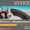 Intex PureSpa Inflatable Bench Seat, Black product image