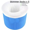 SKIMMER SOCKS, FILTER SKIMMER SOCK, SKIMMER BASKET FILTER SAVER, POOL SOXS x 5