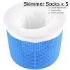 SKIMMER SOCKS, FILTER SKIMMER SOCK, SKIMMER BASKET FILTER SAVER, POOL SOXS x 5 product image