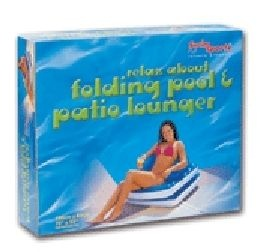 Relax About Folding Pool and Patio Lounger, Swim Sportz