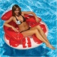 View Water Pop Circular Lounge by Poolmaster, Pool Lounge, Red