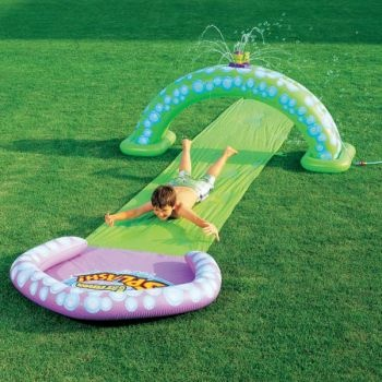 Gazillion Race Rider Slip N Slide with Bubble Sprinkler, Bestway
