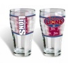 Brisbane Lions AFL Schooner Glass Set of 4, Bear Glasses