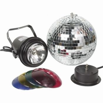 Disco Party Lights! Disco Ball with Spotlight and Coloured Lenses