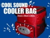 Cool Sound Cooler Bag with Radio 31x25x28cm Red