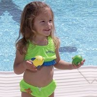 Girls 2 Piece Swim Diaper - Yellow (Large)