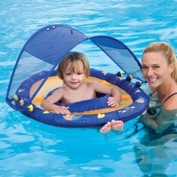 Baby Spring Float Sun Canopy by Swimways, Rainy Duck Day