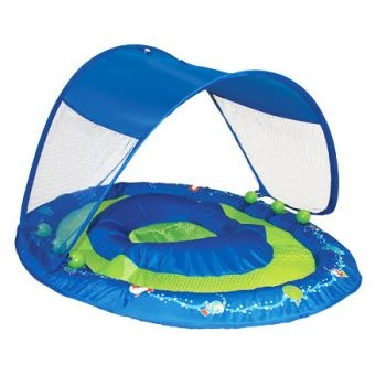 Baby Spring Float Sun Canopy by Swimways, Sea Animal Adventure