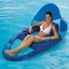 Spring Float Recliner with Canopy, Blue & Pink