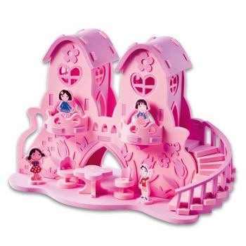 Fairy Doll House, Eva Foam, 65 Pieces