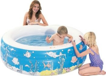 Aquafun Inflatable Doodle Pool, Comes with 6 coloured washable crayons