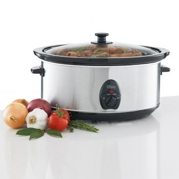 Tiffany 6.5L Slow Cooker, Stainless Steel