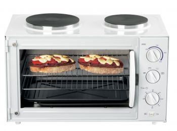 Heller 26L Oven with Dual Hotplates, Portable Oven