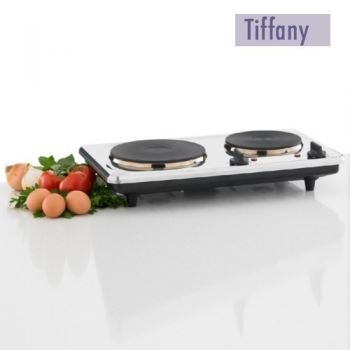 Tiffany 2250W Dual Hot Plate with Stainless Steel Housing
