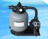 Above Ground Pool Pump & 25 Inch Sand Filter Combo, 4 Way