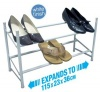 Shoe Rack 2 Tier 115 x 23 x 36cm, White Finish, Shoe Storage