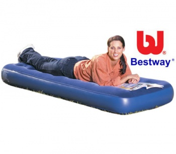 Bestway Flocked Air Bed Single, Comfort Quest Inflatable Camping Airbed