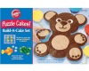 Wilton Puzzle Cake Bear Set, Animal Puzzle Cakes Silicone Build-A-Cake Set, Silicone Bakeware