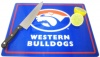 AFL Glass Chopping Board, Western Bulldogs