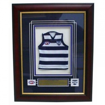 AFL Mini Jersey Framed, Geelong Cats