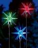 Pixilights Multi Coloured Solar Garden Lights x2, Solar Exploding Ball Lights