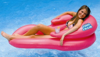 Cool Chair, Relaxing Pool Lounge Chair, Pink