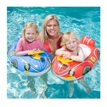 Airtime Kids Car Seat Rider, Formula 1, Pool Toy 67.5cm x 50cm