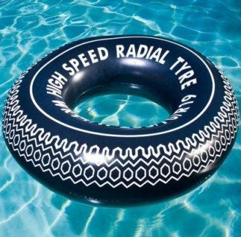 Airtime Inflatable 90cm Tyre Design Swim Ring