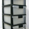 Storage Cabinet, 4 Drawer Storage Cabinet, Black product image