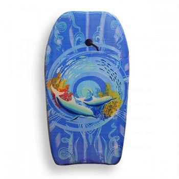 Body Board with Wrist Strap, Wave Rider Dolphin Design