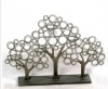 Metal Candle Holder, Large Three Metal Tree Tealight Holder