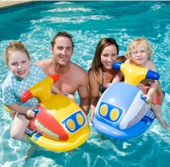 Airtime Jet Ski Ride On Inflatable Pool Toy