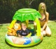 View Air Time Baby Pool with Sunroof, 102 x 102 x 8cm, with Monkey