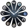 Karlsson Photo Daisy Wall Clock, Black 50cm