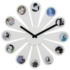 Karlsson Photo Daisy Wall Clock, White 50cm