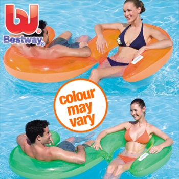 Bestway Double Lounger - Inflatable Pool Chair with S Shape Design - 203cm x 109cm