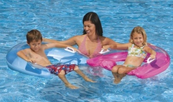 Intex Sit n Float Pool Lounge, Medium D Shape 30 inches