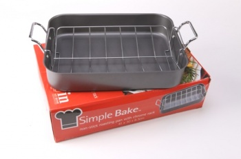 Quality Non Stick Roasting Pan with Chrome Rack