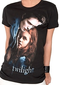 Ladies Twilight - T-Shirt - Edward and Bella Poster Female, Large