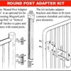Magna Latch - Round Post Adaptor product image