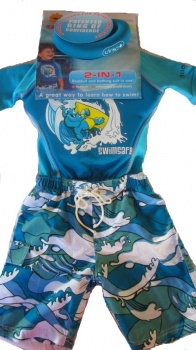 Swimsafe Float Suit, Croc Design, Size 4-5