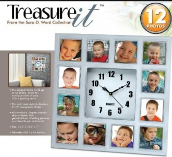 Treasure It Photo Frame Wall Clock