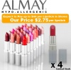 Lot of 4 ALMAY Lasting Lip Colour, Assorted Colours