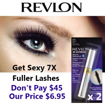 Twin Pack Revlon 3D Extreme Waterproof Mascara