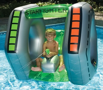 Star Fighter Pool Float with Squirter Gun, Swimsportz