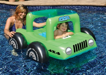 Little Driver Pool Buggy, Pool Float Green