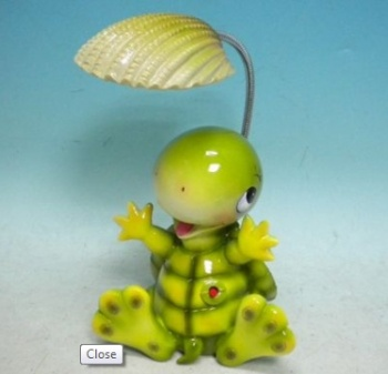 Turtle Night Light With Flexible Seashell Lamp Head