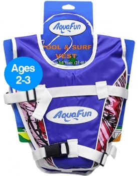 Aquafun Pool & Surf Vest, Ages 2-3, Blue