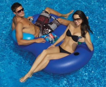 Cooler Combo, Double Pool Chair with Cooler